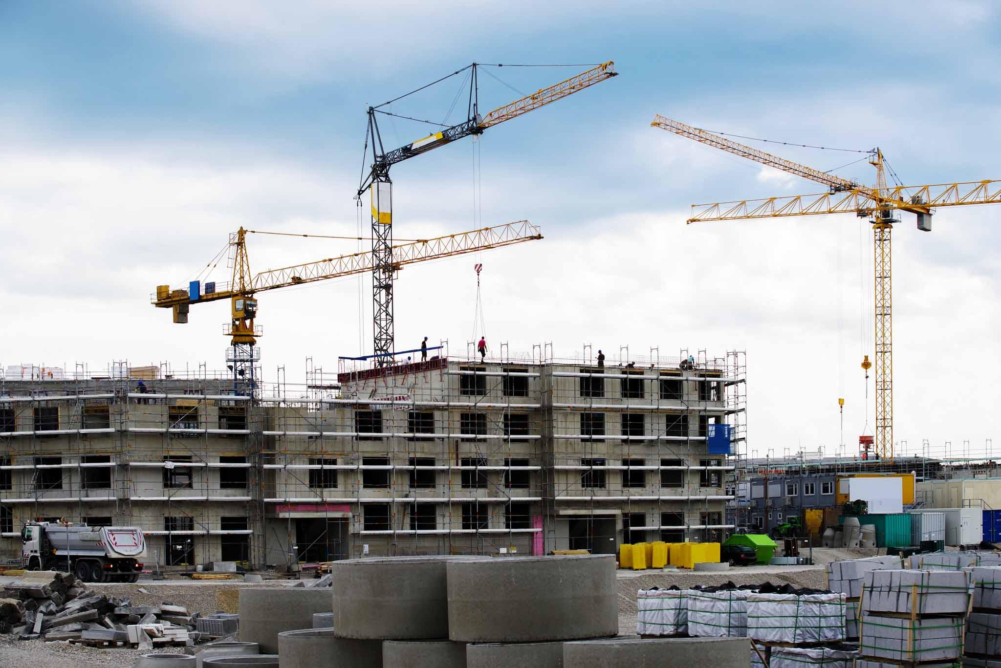 Großbaustelle, Bau- Projekt